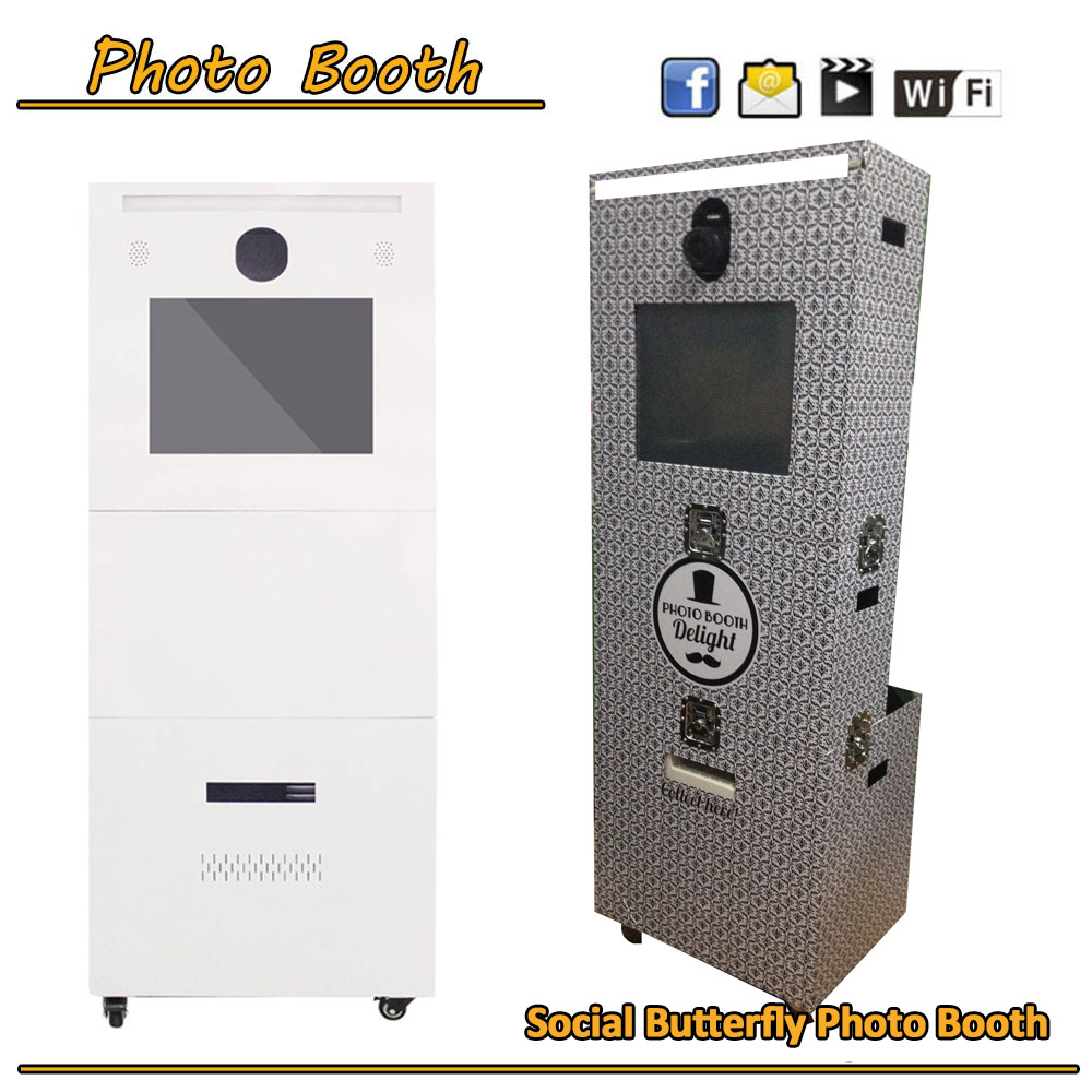 Porable Selfie Photo Machine Photobooth machine with camera printer for Events