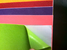 Colorful polyester non-woven felt with sticker