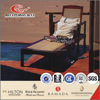 folding wooden rattan sun lounger deck chair garden furniture outdoor