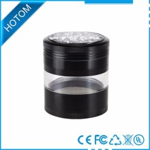 Wholesales head shop grinders herbal, tobacco grinder 2.5'' 4parts aluminum herb grinder for your shop