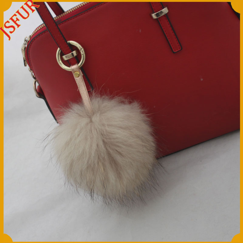 Good quality made in china wholesale raccoon ball shoe bag accessory