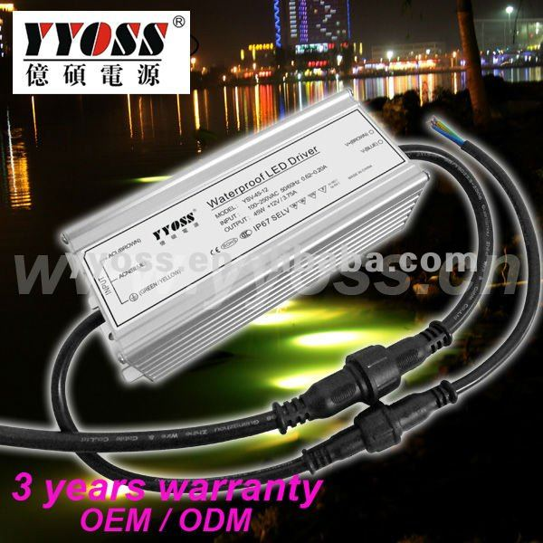 IP67 waterproof 12V 45W LED Driver 50W POWER SUPPLY