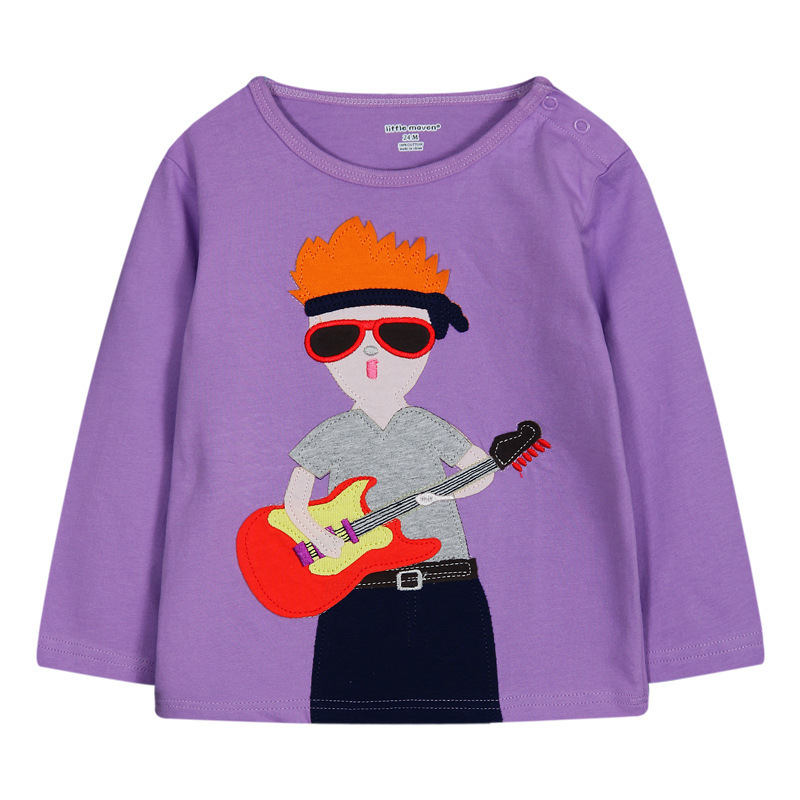 2015 hot sales long sleeve 100% cotton new  t shirts for boys and girls wear wholesale cartoon children t shirts  (Ulik-T10)