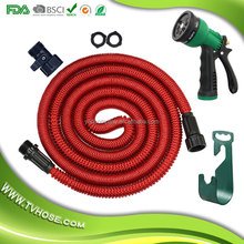 Longest and strongest flexible expandable magic high pressure for watering plants, car wash and showering pets shrink hose