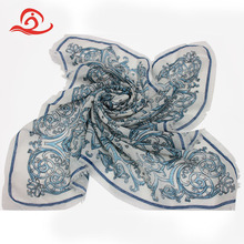 70cm*70cm Square 100 Polyester Material European Style Elegant Scarf