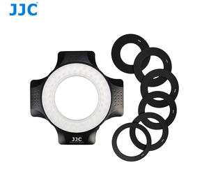 JJC 60pcs LED Bulbs 5600K 6 Adapter Rings Macro Ring Flash Light LED for Camera