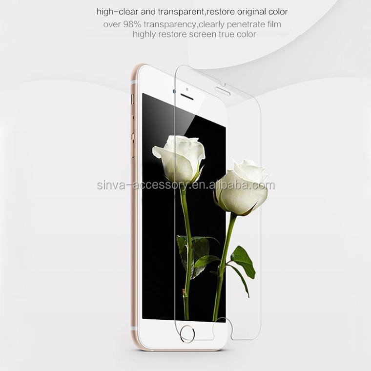 "Top brand Sinva new product! 0.3mm smart key tempered glass screen protector for iphone 6 4.7""and 5.5"""
