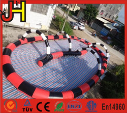 Custom Made Inflatable Go Karts Race Track for Sale, Outdoor Inflatable Zorb Track Games