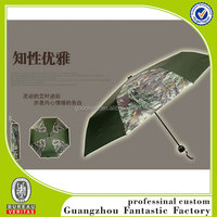 3 folding charming durable umbrella camouflage fabric