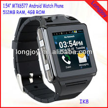Factory Android 4.0 Watch Mobile Phone With 1.54 Inch Capacitive Touch Screen 512MB RAM / 4GB ROM