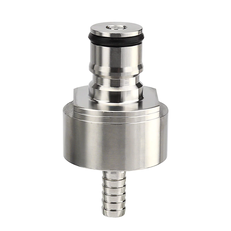 "Stainless Steel Carbonator Carbonation Cap & Liquid Ball Lock Disconnects-1/4""Barb for Soft Drink PET Bottles Homebrew Soda"