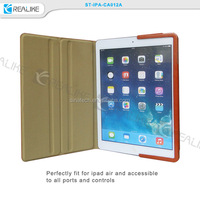 2015 new hot metal bumper leather case for ipad air from realike, sinatech