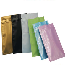 custom printed aluminum foil laminated material plastic food grade high quality mylar three side sealed bags for snack