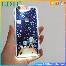 Christmas Bear Flower Flash LED Case Cover For Apple iPhone 6 6S Case Silicone 6 Series Cute Cartoon Case For Phone