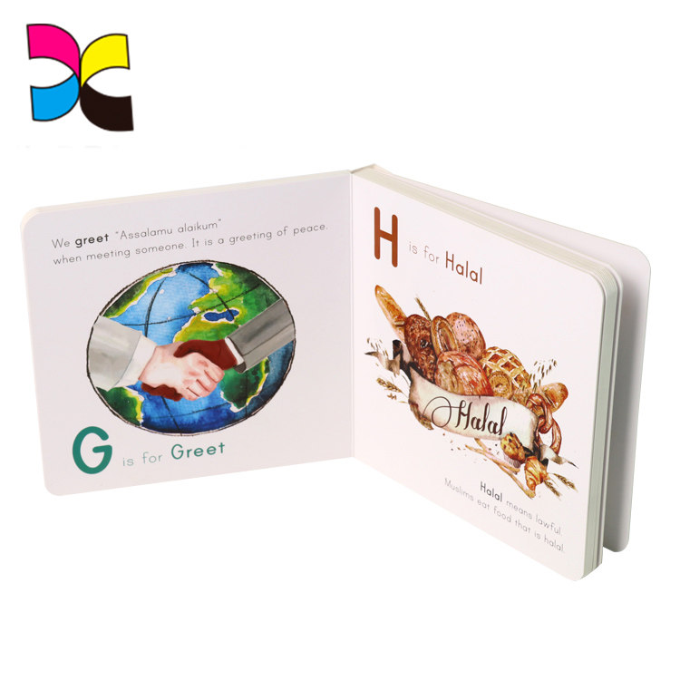 Alibaba new products custom full color artwork design glossy lamination baby book printing