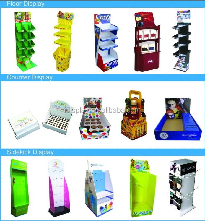 floor standing cardboard floor display stands
