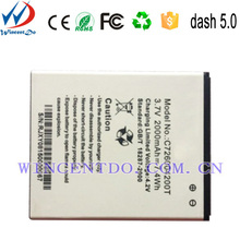 Factory Price 2000mah High Capacity Rechargeable gb t18287 Spice Cell Phone Battery for Blu dash 5.0