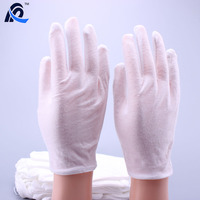 White Thin Cheap Cotton Gloves Disposable Work Etiquette Gloves