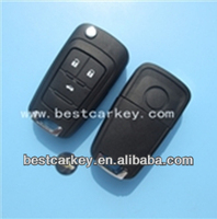 Topbest 433/315mhz id48 chip, 2 buttons car remote key for chevrolet flip key remote chevolet cruze key (HU100)