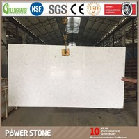 Engineered White Quartz Stone Agglomerate Big Slabs