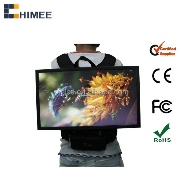 24 inch full hd digital backpack outdoor lcd digital advertising player
