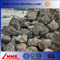 All natural volcanic rock for decoration and construction