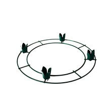 China supplies 12 Inch steel wire Green Advent Wreath Form for sale