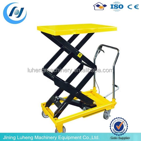Hydraulic Scissor Lift Carts : Hydraulic scissor lift table carts buy