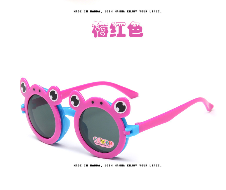 Sunflower wholesale funny gadget different color flip up animal shaped frog sunglasses for kids