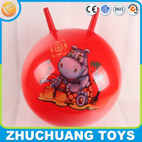 Inflatable pvc toy ball with handle