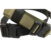 New hot sale military tactical heavy nylon belt with cobra buckle