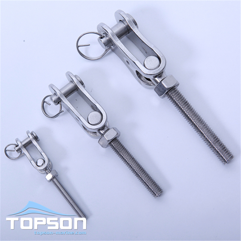 Hardware stainless steel T style toggle thread terminal type swage rigging terminal