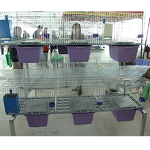 2017 hot sale easy clean cheap rabbit cage with underground rabbit nest for child and mother rabbit