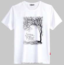 trees printed t shirt,custom white t shirt,oem service apparel