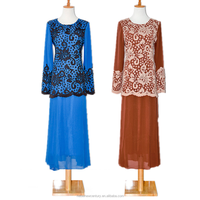 2015 New Fashion Chiffon Pure Color Girl Evening Dress For Msulim Girls, Indian Muslim Dress