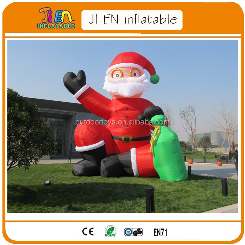 20ft giant outdoor light up christmas inflatable santa,inflatable santa claus
