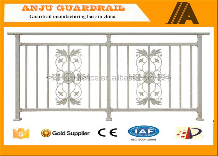 YT-07 white decorative Balcony Protection Fencing,black aluminum fence panel