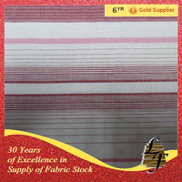 100% cotton block stripe fabric stock 6506-46