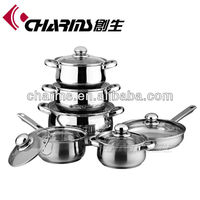 Charms Stainless Steel Capsule Bottom Cookware Set