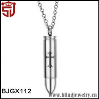 Dubai Wholesale Market Modern Jewelry Bullet Necklace
