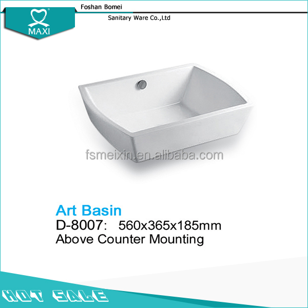 High quality large hand toilet basin combination D-8007