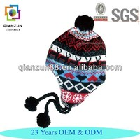 Girls Knitted Ski /Beanie Hats with Ear Flaps