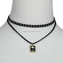 Diamond stainless steel chain necklace women choker