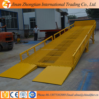 jinan zhongtian 8T Mobile yard ramp, portable yard ramp dock leveller leveler,mobille ramp for Container Warehouse