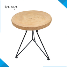 Removable cotton knitted round ottoman wooden folding step stool puff pictures furniture with metal base