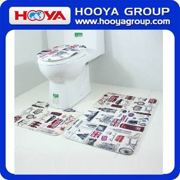 3pcs Bath Rug toliet seat/bath mat /toilet seat cover/new design