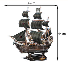 new model ABS classic plastic small toy pirate ship with EN71