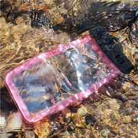 Waterproof Case Floating Dry Bag Buggy Bag phone pouch with waist strap Outdoor Sports for Devices under 6 Inches