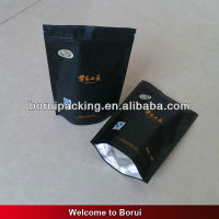 stand up coffee bag,plastic black bag with zip lock,aluminum foil stand up bag