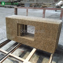 prefab full bullnose golden sand Granite countertop used kitchen countertop